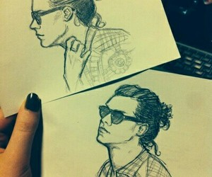Harry Styles, draw, and drawing image