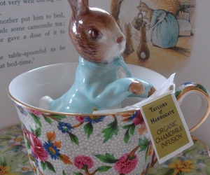 beatrix potter, Peter Rabbit, and tea image