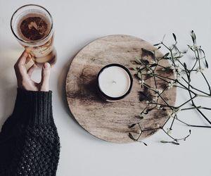 art, chocolate, and coffee image