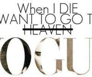 vogue, heaven, and text image