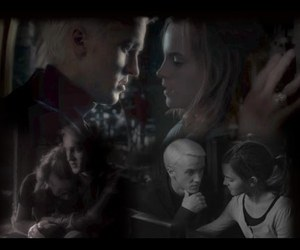 draco malfoy, hermione, and video image