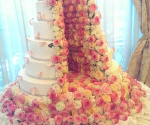 cake, colorful, and flower image