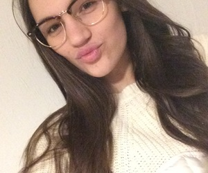 brown hair, glasses, and hair image