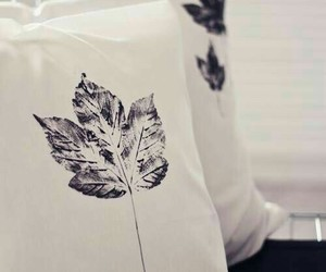 diy, leaves, and pillowcase image