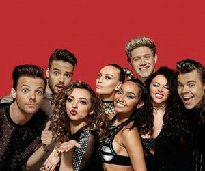 one direction and little mix image