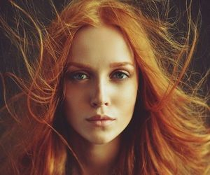 beauty, ginger, and greeneyes image