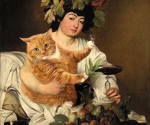 cat, art, and fat cat art image