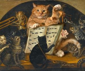 fat, fat cat art, and art image