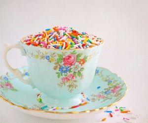 sprinkles, cup, and sweet image