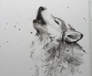drawing, art, and animal image