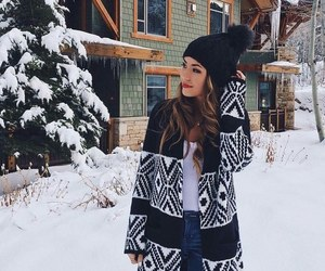 snow, fashion, and girl image