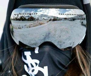 snow, fashion, and snowboard image