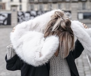 blogger, winter, and blonde image