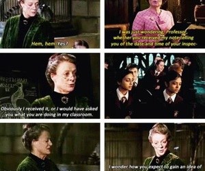 harry potter, mcgonagall, and funny image