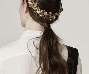gold, hair, and style image