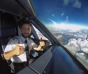 aviation, cockpit, and crew image