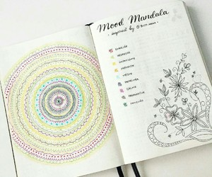 mandala, mood, and bujo image