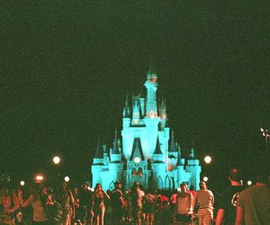 disney, castle, and night image