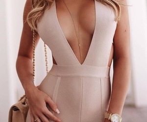 beige, overall, and sexy figure image