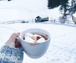 snow, chocolate, and coffee image