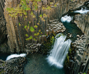 iceland, waterfall, and nature image