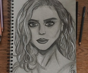 art, charcoal, and drawing image