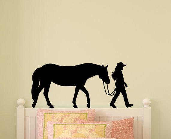 Horse Decal Pony Horse Wall Sticker Horse Rider Western Teen ...
