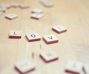 love, letters, and scrabble image