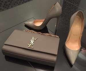 shoes, bag, and YSL image