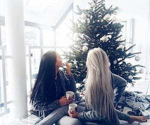 christmas, hair, and winter image
