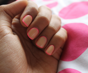 nails, pink, and neon image