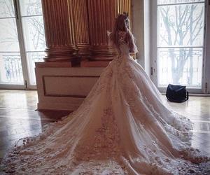 dress, girl, and bridal image