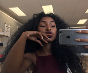 melanin, hair, and beauty image