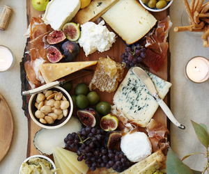 cheese, food, and grapes image