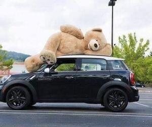car, love, and teddy bear image