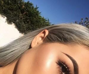 eyebrows, highlight, and make up image