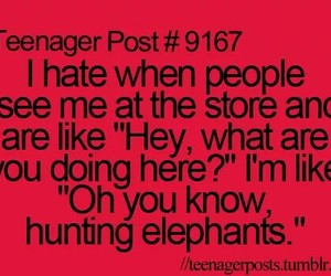 teenager post, elephant, and funny image