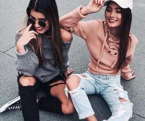 beauty, friendship, and models image