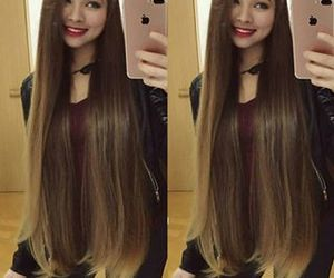 brown, hairstyles, and iphone image