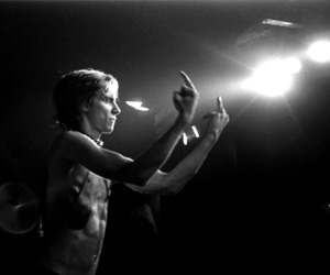 black and white, iggy pop, and music image