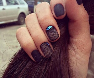 black, matt, and nails image