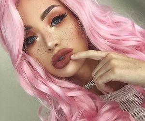 colors, pink, and eyes image