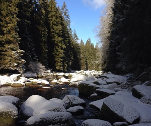 river, snow, and sunshine image
