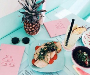 food, summer, and pineapple image