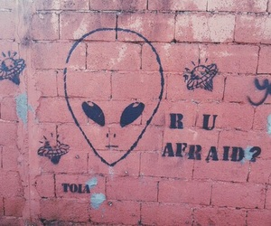 alien, pink, and grunge image
