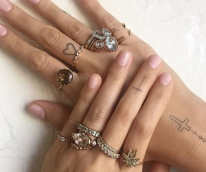 nails, tattoo, and tumblr image