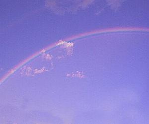 rainbow, purple, and sky image