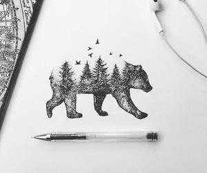 bear, art, and drawing image