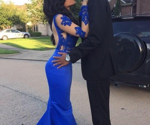 blue, blue dress, and couples image