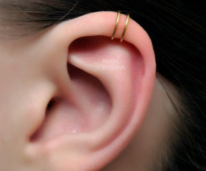 earring, fashion, and helix image